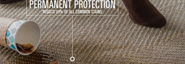 Virtually stain-proof commercial carpet