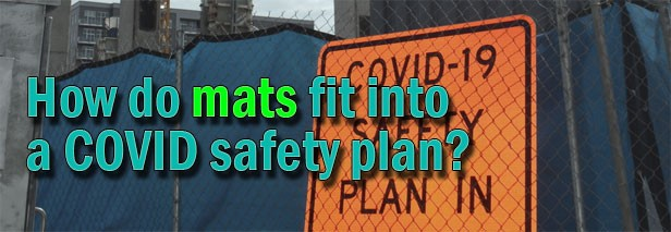 How do sanitizing mats fit into a COVID-19 safety plan?