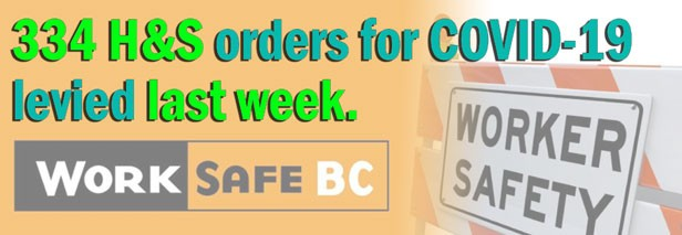 WorkSafeBC levies COVID-19 health, safety orders against 334 businesses